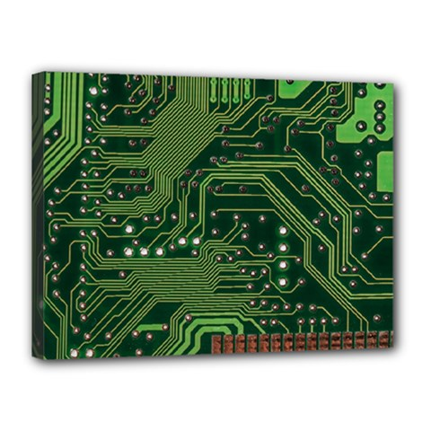 Board Computer Chip Data Processing Canvas 16  X 12