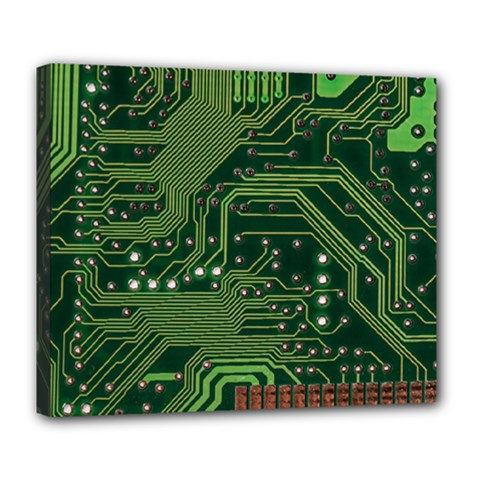 Board Computer Chip Data Processing Deluxe Canvas 24  X 20
