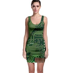 Board Computer Chip Data Processing Bodycon Dress