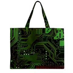 Board Computer Chip Data Processing Zipper Mini Tote Bag