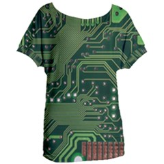 Board Computer Chip Data Processing Women s Oversized Tee