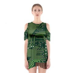Board Computer Chip Data Processing Shoulder Cutout One Piece