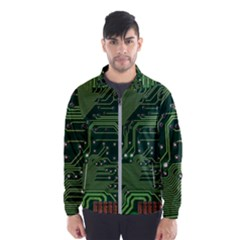 Board Computer Chip Data Processing Wind Breaker (men)