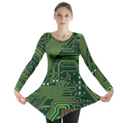 Board Computer Chip Data Processing Long Sleeve Tunic