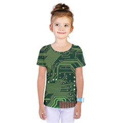 Board Computer Chip Data Processing Kids  One Piece Tee