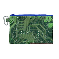 Board Computer Chip Data Processing Canvas Cosmetic Bag (large)