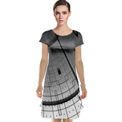 Graphic Design Background Cap Sleeve Nightdress