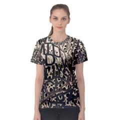 Pattern Design Texture Wallpaper Women s Sport Mesh Tee
