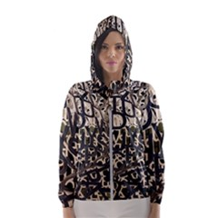 Pattern Design Texture Wallpaper Hooded Wind Breaker (women)
