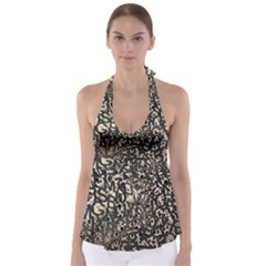 Pattern Design Texture Wallpaper Babydoll Tankini Top