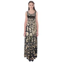 Pattern Design Texture Wallpaper Empire Waist Maxi Dress