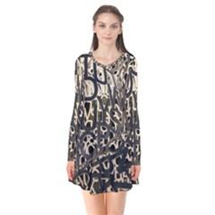 Pattern Design Texture Wallpaper Flare Dress