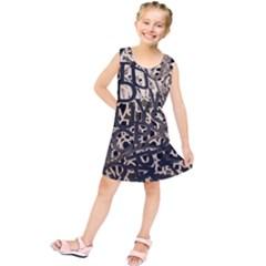 Pattern Design Texture Wallpaper Kids  Tunic Dress