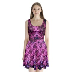 Fractal Art Digital Art Split Back Mini Dress