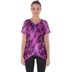 Fractal Art Digital Art Cut Out Side Drop Tee