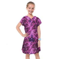 Fractal Art Digital Art Kids  Drop Waist Dress
