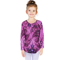 Fractal Art Digital Art Kids  Long Sleeve Tee