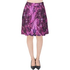 Fractal Art Digital Art Velvet High Waist Skirt