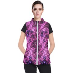 Fractal Art Digital Art Women s Puffer Vest
