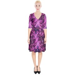 Fractal Art Digital Art Wrap Up Cocktail Dress
