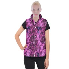 Fractal Art Digital Art Women s Button Up Puffer Vest