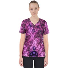 Fractal Art Digital Art Scrub Top