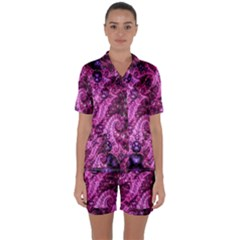 Fractal Art Digital Art Satin Short Sleeve Pyjamas Set