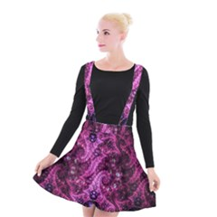 Fractal Art Digital Art Suspender Skater Skirt