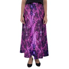 Fractal Art Digital Art Flared Maxi Skirt