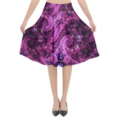 Fractal Art Digital Art Flared Midi Skirt