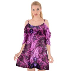 Fractal Art Digital Art Cutout Spaghetti Strap Chiffon Dress