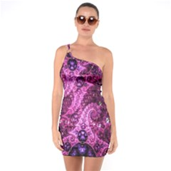 Fractal Art Digital Art One Soulder Bodycon Dress