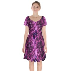Fractal Art Digital Art Short Sleeve Bardot Dress