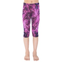 Fractal Art Digital Art Kids  Capri Leggings