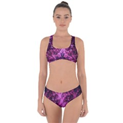 Fractal Art Digital Art Criss Cross Bikini Set
