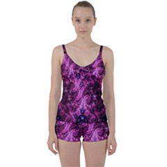 Fractal Art Digital Art Tie Front Two Piece Tankini