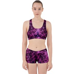 Fractal Art Digital Art Work It Out Sports Bra Set