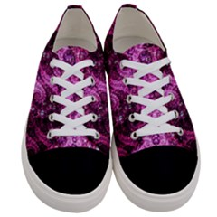 Fractal Art Digital Art Women s Low Top Canvas Sneakers