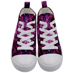 Fractal Art Digital Art Kid s Mid Top Canvas Sneakers