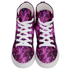 Fractal Art Digital Art Women s Hi Top Skate Sneakers