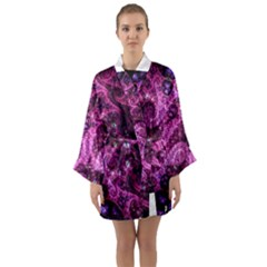 Fractal Art Digital Art Long Sleeve Kimono Robe