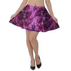 Fractal Art Digital Art Velvet Skater Skirt