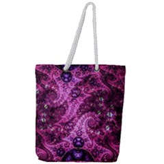 Fractal Art Digital Art Full Print Rope Handle Tote (large)