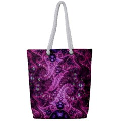 Fractal Art Digital Art Full Print Rope Handle Tote (small)