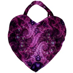 Fractal Art Digital Art Giant Heart Shaped Tote