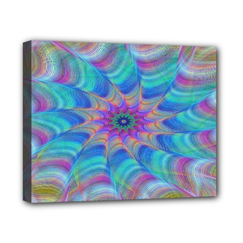 Fractal Curve Decor Twist Twirl Canvas 10  X 8