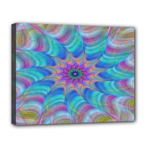 Fractal Curve Decor Twist Twirl Canvas 14  X 11