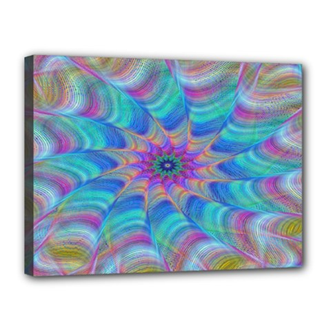 Fractal Curve Decor Twist Twirl Canvas 16  X 12