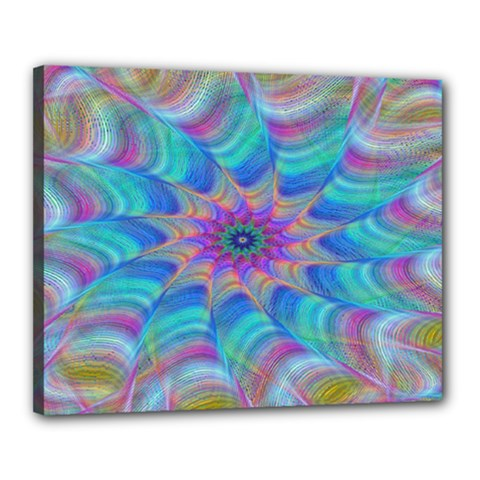 Fractal Curve Decor Twist Twirl Canvas 20  X 16