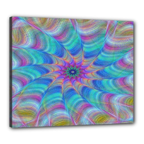 Fractal Curve Decor Twist Twirl Canvas 24  X 20